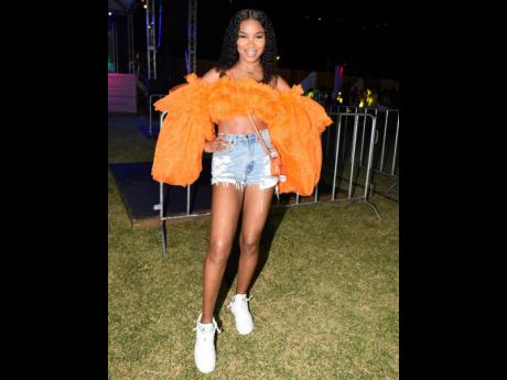 2.Shantae Bryan is 'tulle' fabulous for the first staging of I Love Soca since December 2019.