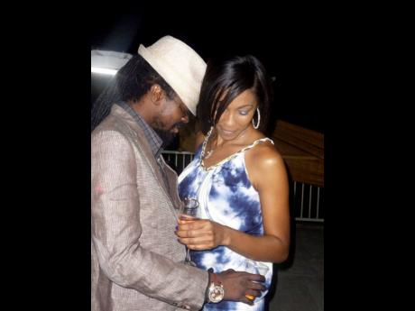 D'Angel and her then husband, Beenie Man celebrate at her birthday party in 2011.