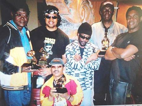 Toots and the Maytals celebrating their 2005 Grammy win.