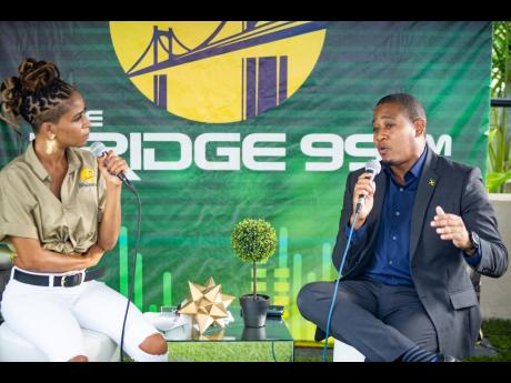 Minister of Agriculture and Fisheries Floyd Green joined The Bridge 99 FM host Nikki Z to discuss, among other things, the role the diaspora plays in supporting Jamaica's agricultural exports, during the station's inaugural broadcast.