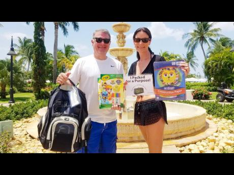 Sandals guests, Shannon and Mitchell Hopper, are among hundreds of travellers who continue to spread gratitude by packing for a purpose whenever they travel.