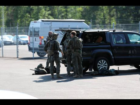 A large police operation is under way outside Hallby Prison near Eskilstuna, Sweden, on Wednesday.  Two inmates are reported to have taken staff members hostage inside the prison.