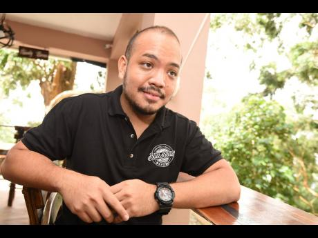 Jovan Yapp, one of the owners of the new Blue Brews Bistro in Holywell, St Andrew.