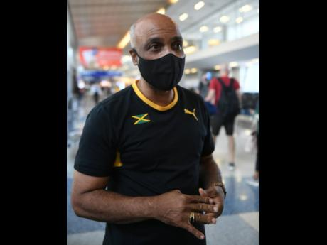 Jamaica Olympic Association President Christopher Samuda in an interview with The Gleaner at the Dallas Fort Worth International Airport in the United States of America yesterday.