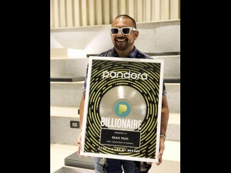 Sean Paul is the first Caribbean-based talent to be inducted into Pandora's Billionaires' Club..
