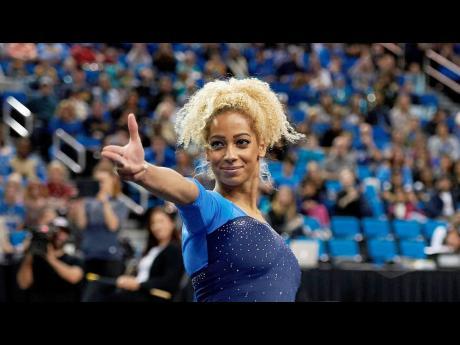 Jamaican gymnast Danusia Francis.
