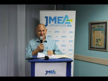 Newly elected president of the Jamaica Manufacturers and Exporters Association, John Mahfood, speaks at the annual general meeting on Wednesday, July 21, 2021.