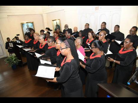 Members of the National Chorale of Jamaica will perform a selection of songs, including the Negro spiritual, 'I Stood on the River Jordan'.