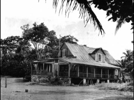The West End home, as it stood in earlier times. With a number of owners, it has an intriguing history.