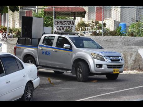 Photos by Mark Titus  On Friday, police officers were seen removing furniture from the Teamwork Retreat Centre in St James, reportedly en route to the nearby Freeport Police Station for storage. Some 50 policemen assigned to the Zone of Special Operations