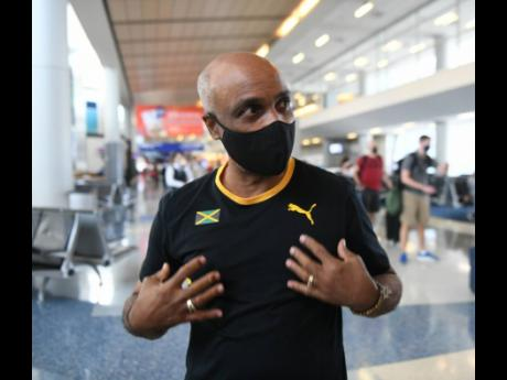Jamaica Olympic Association (JOA) President, Christopher Samuda, speaks during an interview at the Dallas Fort Worth International Airport in the United States of America on Wednesday, July 21, 2021.