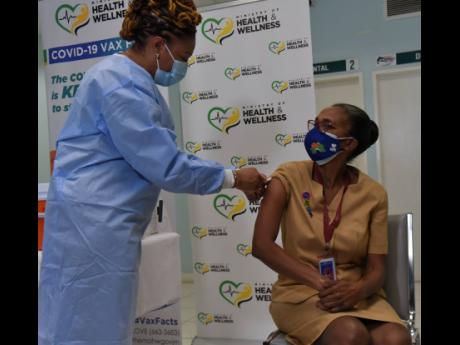 A total of 15,946 of an estimated 36,900 healthcare workers have received their first dose of the COVID-19 vaccine, with 8,866 workers now fully vaccinated, making them the largest number of the essential services to be inoculated.