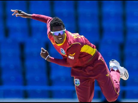 West Indies pace bowler Akeal Hosein.
