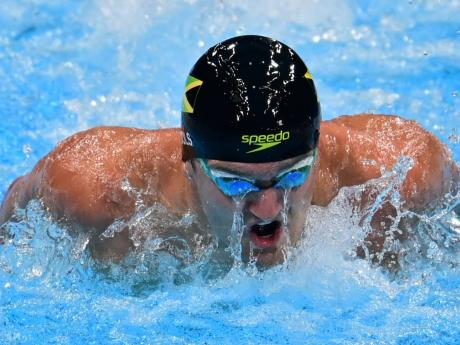 Jamaica's Keanan Dols in action in the Men's 200m Individual Medley event at the Tokyo Aquatics Centre during the Olympic Games in Tokyo, Japan on Wednesday morning.