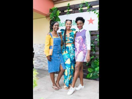 From left: It's an evening out with friends Noelle Lawson, Kristia Franklin and Nickette Henry, who were dressed and ready for brunch.