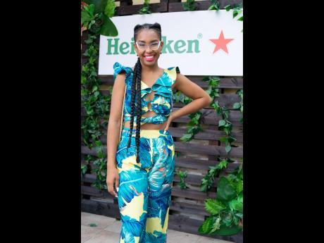 Fashion designer Kristia Franklin was dressed to impress at the Heineken-sponsored Jamaica Liquor Warehouse Brunch.Fashion designer Kristia Franklin was dressed to impress at the Heineken-sponsored Jamaica Liquor Warehouse Brunch.Fashion designer Kristia F