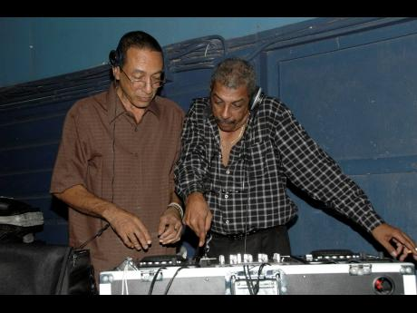 Gladstone 'Gladdy' Parker (left) and Mordy Brown spin the hits at Gemini, a party held at the Deck in June 2008.