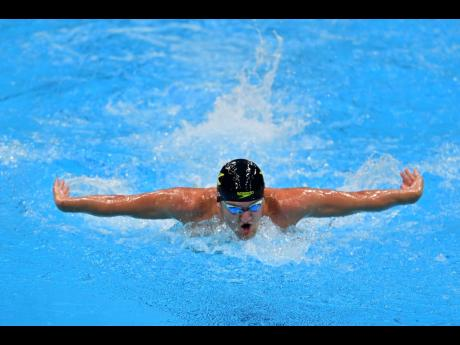 Jamaica's Keanan Dols competing in the Men's 200m Individual Medley during the Tokyo 2020 Olympics at the Tokyo Aquatics Centre in Tokyo, Japan, on Wednesday.