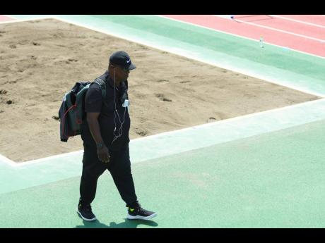 Track and field coach Stephen 'Franno' Francis at the Olympic Stadium Warm-Up Track during an MVP Track Club training session at the Tokyo Olympics in Tokyo, Japan on Thursday morning.