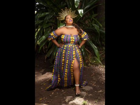 The shoot had a regal theme, specifically an African/Nubian queen influence.