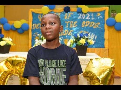 Jalill Douglas from Yallahs Primary School in St Thomas had a perfect score in the PEP ability test.