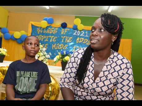 Alechia Anderson-Douglas and her son Jalill Douglas from Yallahs Primary School in St Thomas speak of their Primary Exit Profile journey.