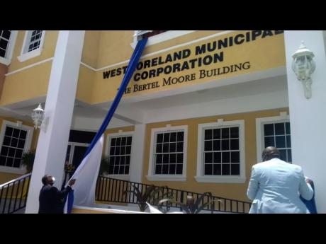 The Bertel Moore building, headquarters of the Westmoreland Municipal Corporation, was unveiled on Thursday.