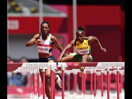 Jamaica's Megan Tapper competes in the Women's 100m hurdles event at the Tokyo 2020 Olympic Games held in Tokyo, Japan at the Tokyo Olympic Stadium on Saturday (Japan time).