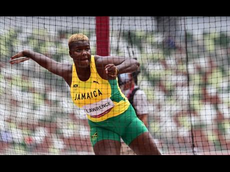 Shadae Lawrence of Jamaica competes in the Women's Discus Throw event at the Tokyo 2020 Olympics held in Tokyo, Japan at the Tokyo Olympic Stadium on Saturday (Japan time).