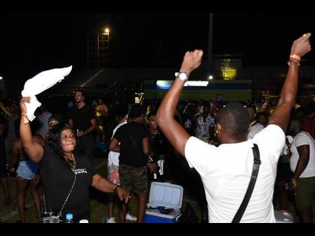 Patrons at the popular I Love Soca event held at Stadium East on July 14 following the limited lifting of restriction on entertainment.