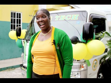 Antoinette Banton-Ellis, principal of Vere Technical High School could not hide her excited. She said the donated truck will help to transport goods from the school's farm and significantly reduce transportation costs at the institution.