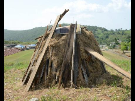 The bonfire is prepared ahead of Emancipation Day celebrations in 2020. This year's lighting of the bonfire will take place virtually.