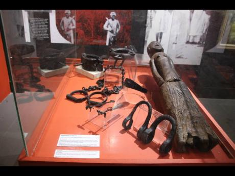 Implements of Slavery - a testimony to the atrocities meted to fellow humans.