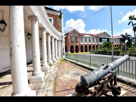 2017: A cannon at the Rodney Memorial building,  Emancipation Square in Spanish Town, St Catherine.