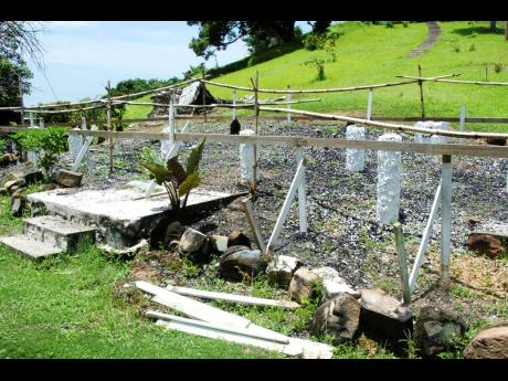 2006: The spot at Blenheim, which once housed the birth place of former Prime Minister and National Hero Sir Alexander Bustamante.