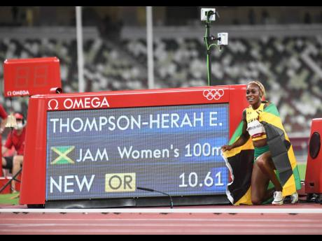 Photos by Gladstone Taylor/Multimedia Photo Editor  Elaine Thompson Herah erased Florence Griffith-Joyner's 33-year Olympic record of 10.62 seconds, which was set in 1988.