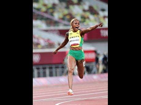 Elaine Thompson Herah emphatically defended her Olympic 100m title with a 10.61 seconds run inside the Tokyo Olympic Stadium yesterday.