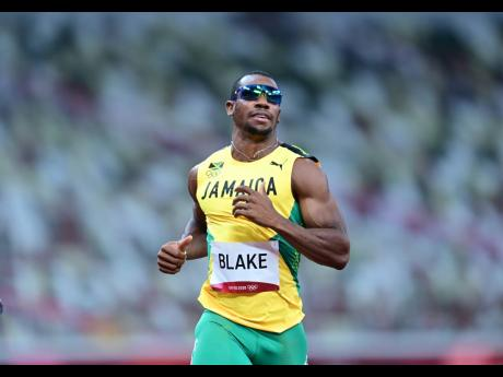 Jamaica's Yohan Blake competing in the men's 100m first round at the Tokyo 2020 Olympics, at the Tokyo Olympic Stadium in Tokyo, Japan, yesterday.