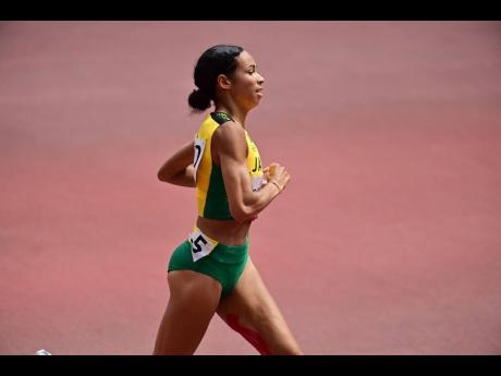 Jamaica's Aisha Praught-Leer during the Women's 1500m semi-final at the Tokyo Olympic Games in Tokyo, Japan on Monday.