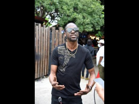 Bounty Killer explains the details of his new publishing deal at an event to mark the occasion, last Friday.