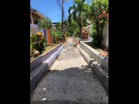 Mandingo Path in Nannyville where Lawrence was killed on Saturday evening.