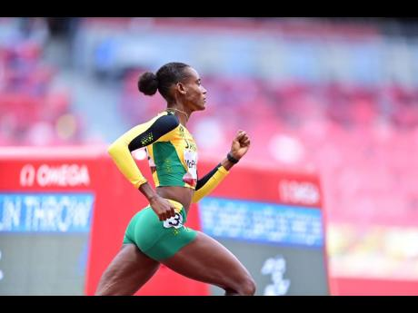 Jamaica's Stephenie Ann McPherson in action in the Round 1 heats of the Women's 400m event at the Tokyo Olympic Games in Tokyo, Japan on Tuesday morning.