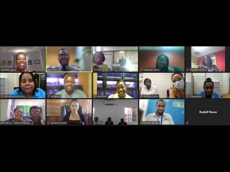 A screenshot of some of the participants of the SAJ customer experience seminar.