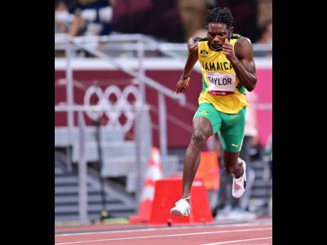 Jamaica's Christopher Taylor competes in the men's 400 metres semi-finals at the Tokyo 2020 Olympics Games at the Tokyo Olympic Stadium in Tokyo, Japan, yesterday. Taylor clocked 44.92 seconds to qualify for the final.