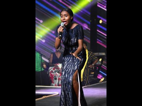 Erica Lumsden performs at the final of the Gospel Star competition.