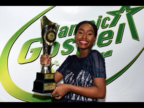 The 18-year-old Gospel Star winner said she was happy to be able to put a smile on her father's face.