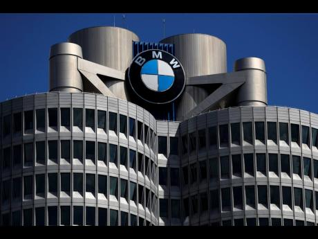 The logo of German car manufacturer BMW is displayed at the automaker's headquarters in Munich, Germany.
