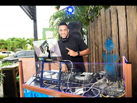 DJ Bambino sets the tone with his great music selection.