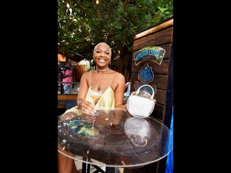 Patron Shani Forbes was all smiles.
