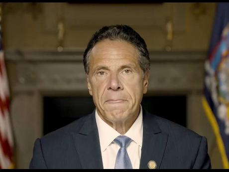 This image, taken from a video provided by the  Office of the NY Governor, shows New York Governor Andrew Cuomo making a pre-recorded statement released on Tuesday, August 3, in New York.